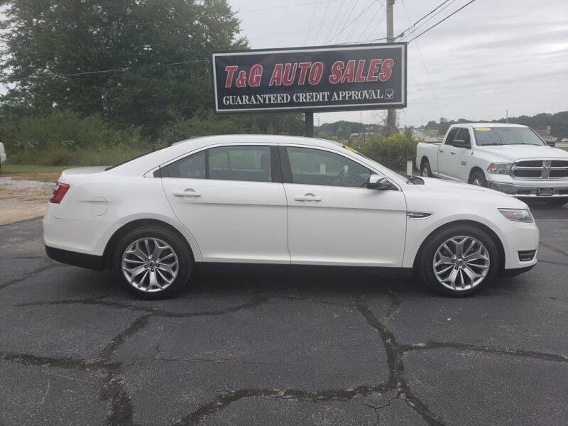 2014 Ford Taurus for sale at T & G Auto Sales in Florence AL