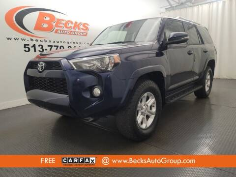 2015 Toyota 4Runner for sale at Becks Auto Group in Mason OH