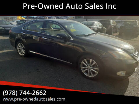 2010 Lexus ES 350 for sale at Pre-Owned Auto Sales Inc in Salem MA