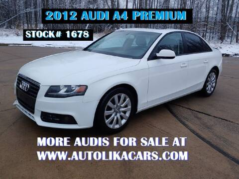2012 Audi A4 for sale at Autolika Cars LLC in North Royalton OH