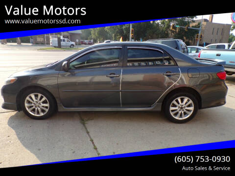 2010 Toyota Corolla for sale at Value Motors in Watertown SD