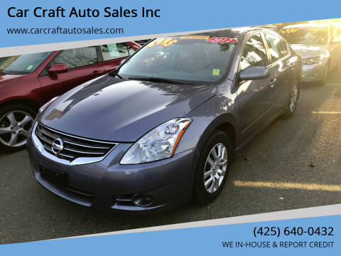 2012 Nissan Altima for sale at Car Craft Auto Sales Inc in Lynnwood WA
