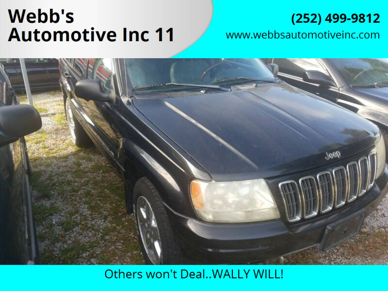 2003 Jeep Grand Cherokee for sale at Webb's Automotive Inc 11 in Morehead City NC