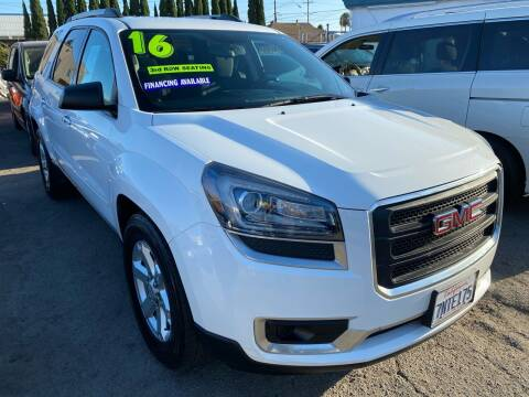 2016 GMC Acadia for sale at CAR GENERATION CENTER, INC. in Los Angeles CA