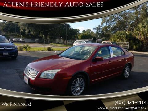 2008 Mercury Milan for sale at Allen's Friendly Auto Sales in Sanford FL