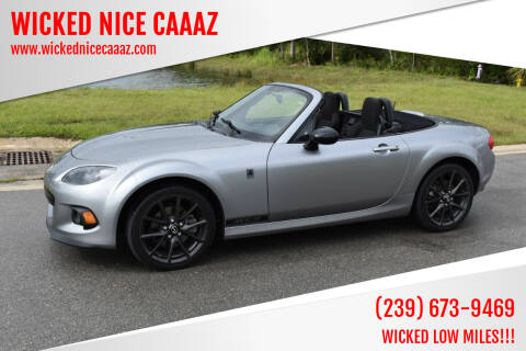 2013 Mazda MX-5 Miata for sale at WICKED NICE CAAAZ in Cape Coral FL