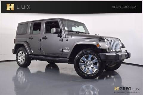2017 Jeep Wrangler Unlimited for sale at HGREG LUX EXCLUSIVE MOTORCARS in Pompano Beach FL