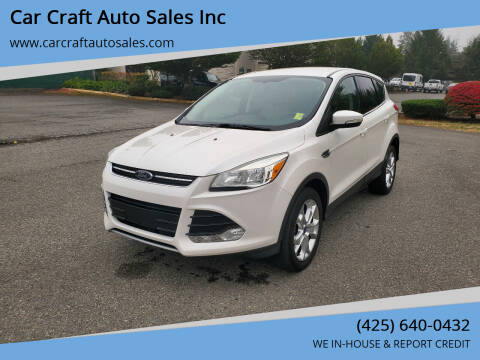 2013 Ford Escape for sale at Car Craft Auto Sales Inc in Lynnwood WA
