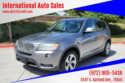 2011 BMW X3 for sale at International Auto Sales in Garland TX