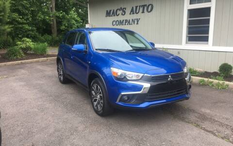 2017 Mitsubishi Outlander Sport for sale at MAC'S AUTO COMPANY in Nanticoke PA