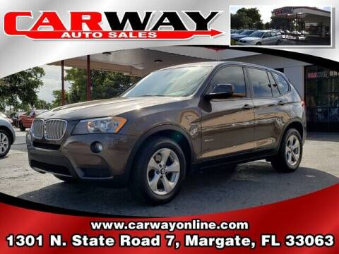 2012 BMW X3 for sale at CARWAY Auto Sales in Margate FL