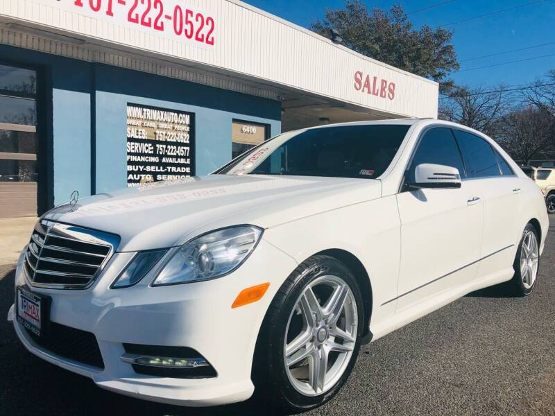2013 Mercedes-Benz E-Class for sale at Trimax Auto Group in Norfolk VA