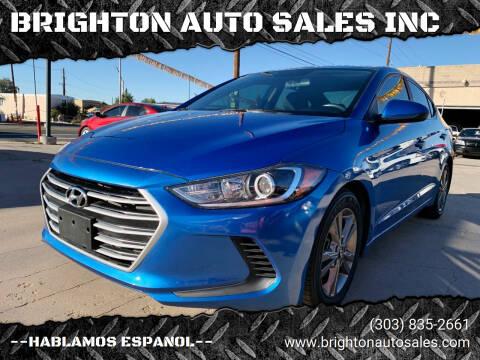 2018 Hyundai Elantra for sale at BRIGHTON AUTO SALES INC in Brighton CO