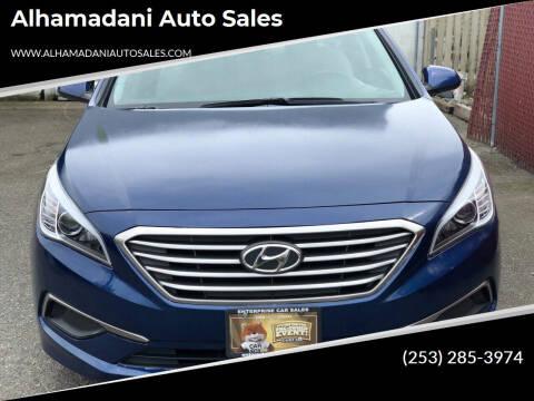 2016 Hyundai Sonata for sale at ALHAMADANI AUTO SALES in Spanaway WA