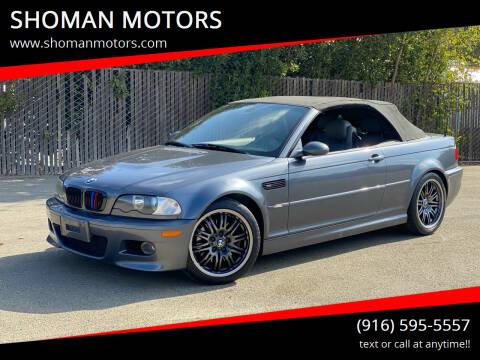 2003 BMW M3 for sale at SHOMAN MOTORS in Davis CA