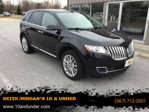 2014 Lincoln MKX for sale at KEITH JORDAN'S 10 & UNDER in Lima OH