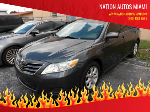 2011 Toyota Camry for sale at Nation Autos Miami in Hialeah FL