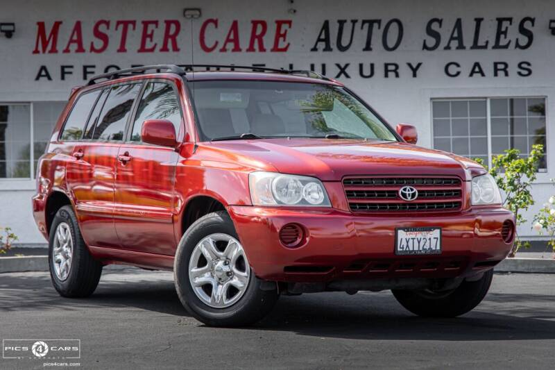2002 Toyota Highlander for sale at Mastercare Auto Sales in San Marcos CA