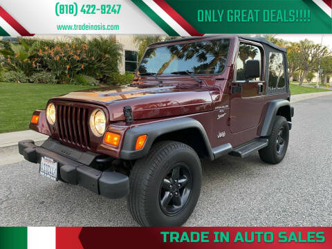 2001 Jeep Wrangler for sale at Trade In Auto Sales in Van Nuys CA