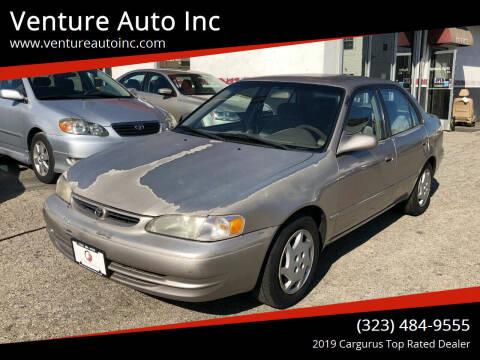 1999 Toyota Corolla for sale at Venture Auto Inc in South Gate CA