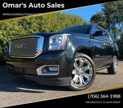 2016 GMC Yukon for sale at Omar's Auto Sales in Martinez GA