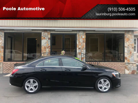 2015 Mercedes-Benz CLA for sale at Poole Automotive in Laurinburg NC