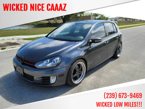 2013 Volkswagen GTI for sale at WICKED NICE CAAAZ in Cape Coral FL
