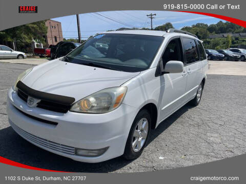 2005 Toyota Sienna for sale at CRAIGE MOTOR CO in Durham NC