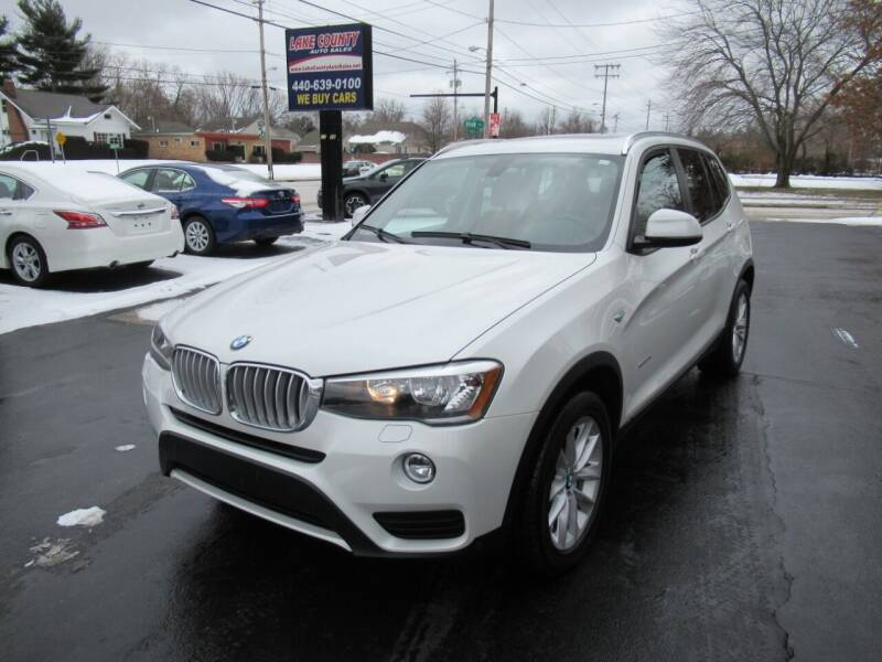 2015 BMW X3 for sale at Lake County Auto Sales in Painesville OH