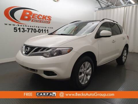 2013 Nissan Murano for sale at Becks Auto Group in Mason OH