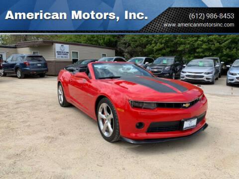 2015 Chevrolet Camaro for sale at American Motors, Inc. in Farmington MN