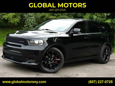 2018 Dodge Durango for sale at GLOBAL MOTORS in Binghamton NY
