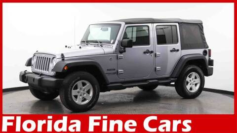 2018 Jeep Wrangler JK Unlimited for sale at Florida Fine Cars - West Palm Beach in West Palm Beach FL