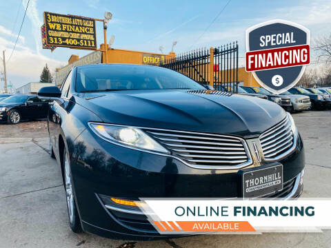 2014 Lincoln MKZ for sale at 3 Brothers Auto Sales Inc in Detroit MI