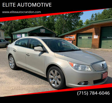 2012 Buick LaCrosse for sale at ELITE AUTOMOTIVE in Crandon WI