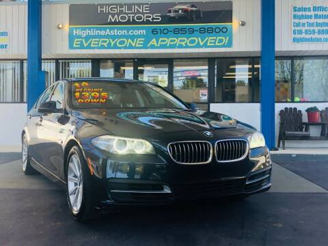 2014 BMW 5 Series for sale at Highline Motors in Aston PA
