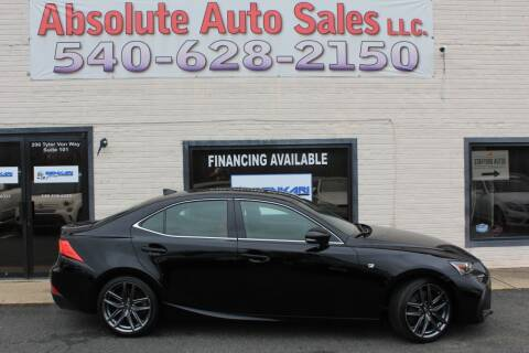 2018 Lexus IS 300 for sale at Absolute Auto Sales in Fredericksburg VA