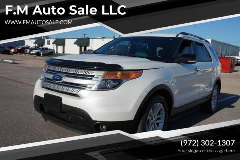 2014 Ford Explorer for sale at F.M Auto Sale LLC in Dallas TX