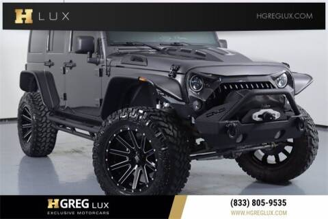 2018 Jeep Wrangler JK Unlimited for sale at HGREG LUX EXCLUSIVE MOTORCARS in Pompano Beach FL
