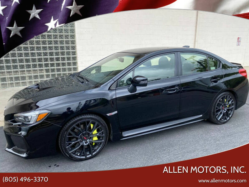 2018 Subaru WRX for sale at Allen Motors, Inc. in Thousand Oaks CA