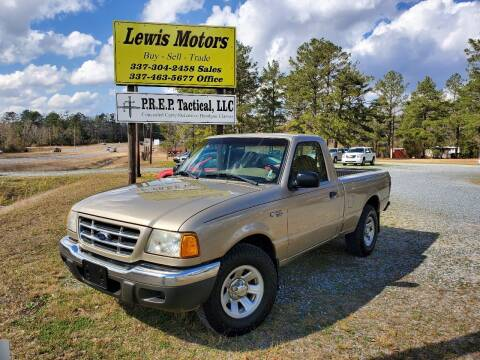 2002 Ford Ranger for sale at Lewis Motors LLC in Deridder LA