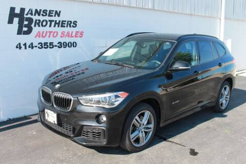 2017 BMW X1 for sale at HANSEN BROTHERS AUTO SALES in Milwaukee WI