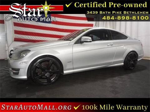 2014 Mercedes-Benz C-Class for sale at STAR AUTO MALL 512 in Bethlehem PA