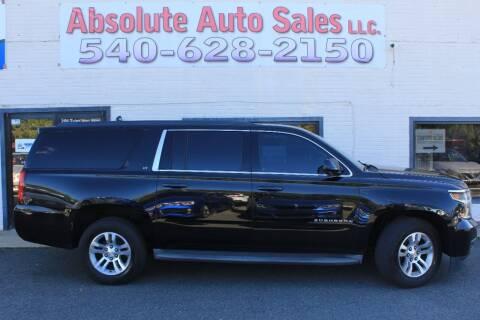 2015 Chevrolet Suburban for sale at Absolute Auto Sales in Fredericksburg VA