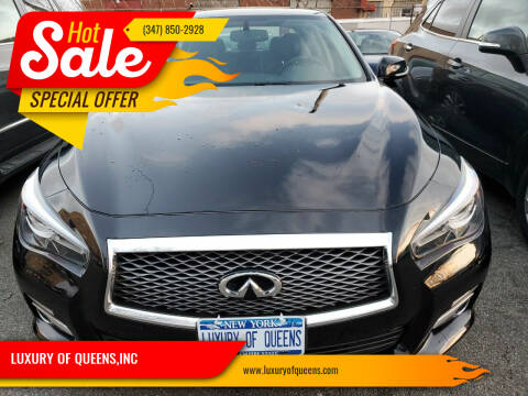 2016 Infiniti Q50 for sale at LUXURY OF QUEENS,INC in Long Island City NY