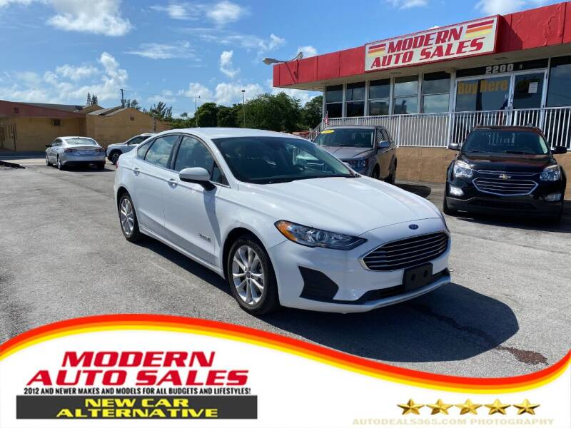 2019 Ford Fusion Hybrid for sale at Modern Auto Sales in Hollywood FL