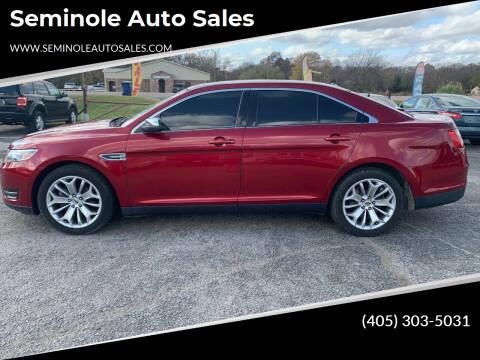 2017 Ford Taurus for sale at Seminole Auto Sales in Seminole OK
