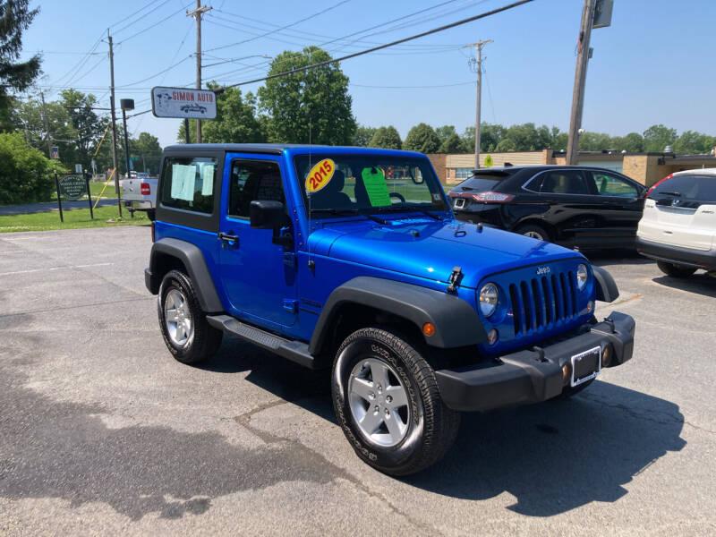 2015 Jeep Wrangler for sale at JERRY SIMON AUTO SALES in Cambridge NY