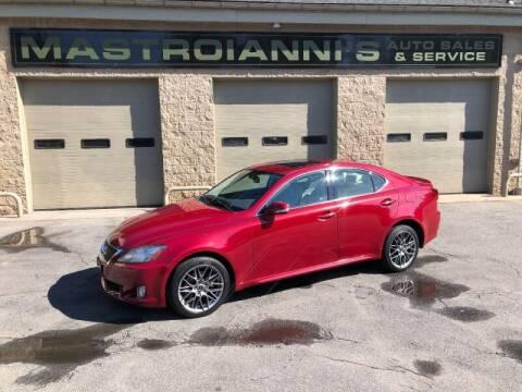 2010 Lexus IS 250 for sale at Mastroianni Auto Sales in Palmer MA