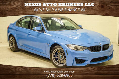2016 BMW M3 for sale at Nexus Auto Brokers LLC in Marietta GA
